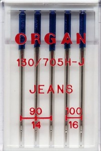 Igły półpłaskie ORGAN 130/705H-J do jeansu mix 90-100