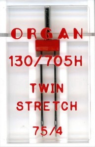 Igła podwójna półpłaska Organ do stretchu 4mm